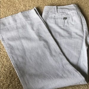 The Limited Drew Fit Blue/White Stripe Pant-Size 0